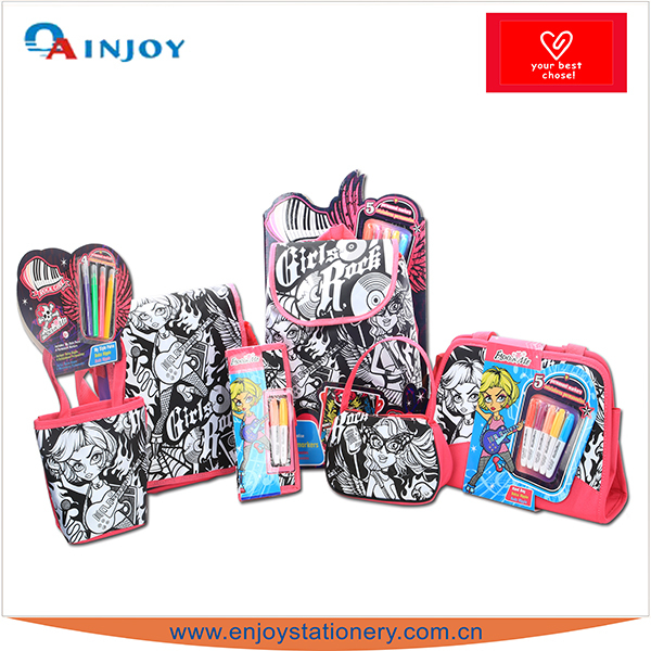 Rock Girl Children Painting Game Bag