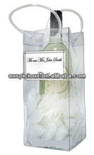 Logo printed pvc wine bag packing one bottle liquor