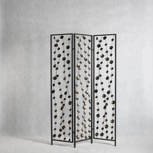 Mayco Home Decoration Metal Screen Partition 3 Panels Foldable Room Divider