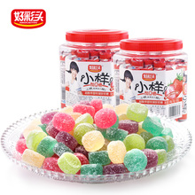Five Flavors Fruit Candy, Super Sour Gummy Candy, Soft Sweet Candy