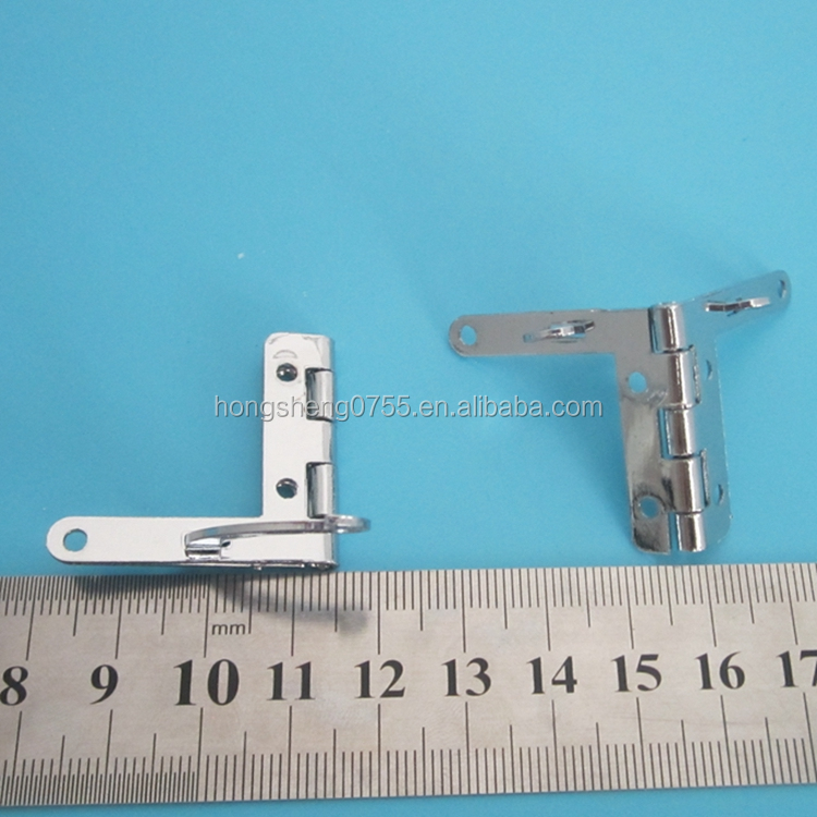 high quality silver color small metal jewelry box quadrant hinge