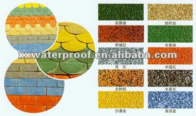 coloured asphalt shingle/bitumen roofing tile