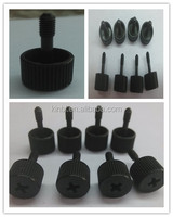 knurled thumb screw with black zinc coating