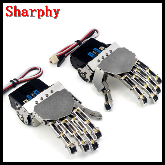 Robot hand-five fingers/Metal manipulator arm/Mini bionic hand/Humanoid robot arm/gripper/car accessories/left/right/DIY