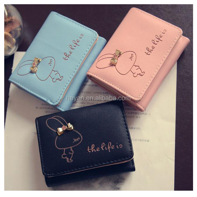 Popular Fancy Cute Cartoon Women Girls Wallet