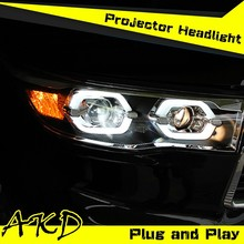 AKD Car Styling New Highlander LED Headlight for 2015 Toyota Highlander Headlights LED Head Lamp Projector Bi Xenon Hid H7