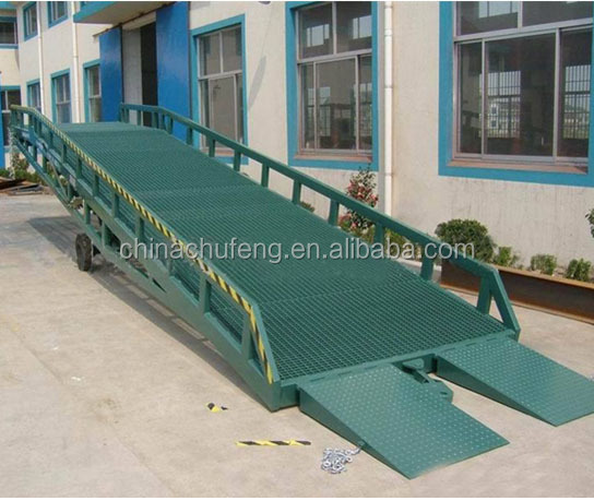 mechanical mobile truck ramp / dock leveler / yard ramp