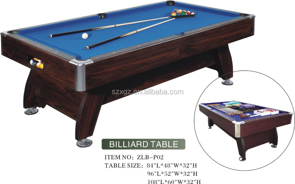 Good Quality Cheap Pool Tables With Cue Chalk Triangle Accessaries Wholesale