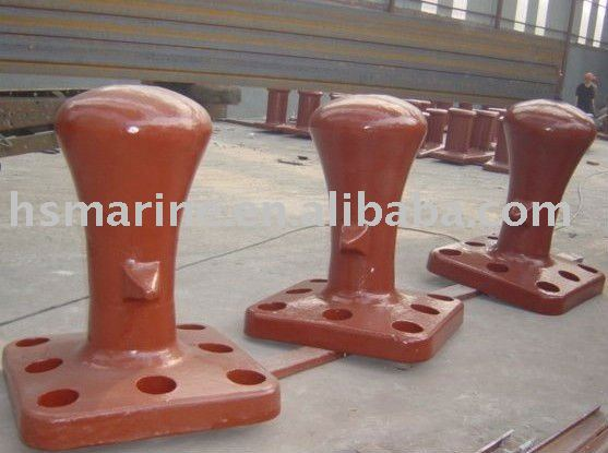 Marine dock horn head bollards