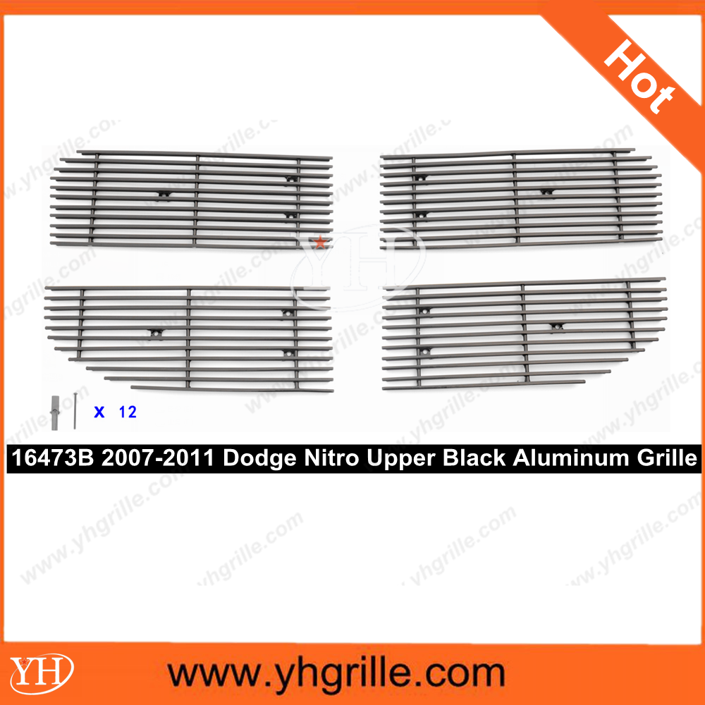 Hot sale 2007-2011 Dodge Nitro Upper Black auto front Aluminum Billet Grills price