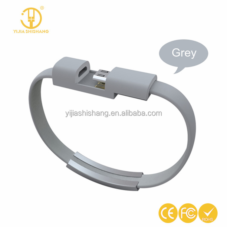Mini Micro Usb Cable Bracelet Wristband Flat Wire Charger Data Cabel Android Cord For Xiaomi Redmi 3 Note 3 Pro Mi Max/Lg G4 G3