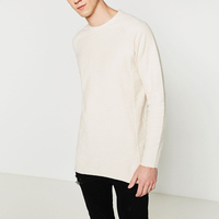 Alibaba China Men's t shirt Wholesale Blank High Quality Men's Long Sleeve O neck Cotton Men's t-shirt