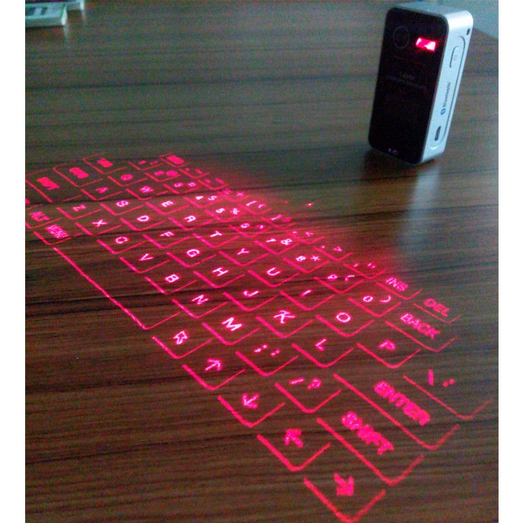 mini portable bluetooth wireless virtual laser projection keyboard for smart phone and tablet