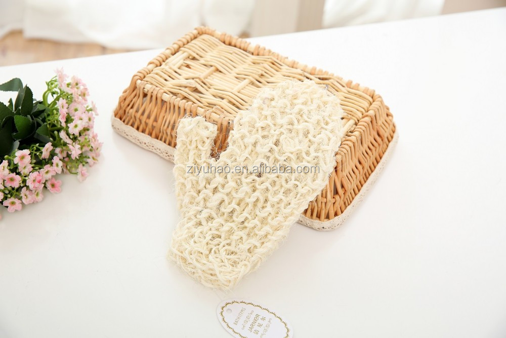 Wholesale natural sisal glove for cleaning or bath gloves