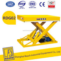 High performance hot product top grade stationary scissor lift table
