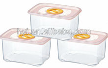 three-piece microwaveable small rectangle food container with air hole design on cap