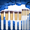2017 cosmetics manufacturer wholesale vegan makeup brush custom private label makeup brush set