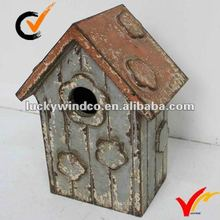 Farmhouse shabby chic distressed wood bird house