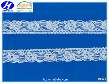 China Supplier Narrow Width Elastic Lace Trim for Wedding Dress Bridal Gown