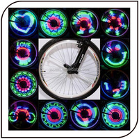 48 LED 48 pattern programmable bicycle colorful and waterproof wheel fashion spoke light