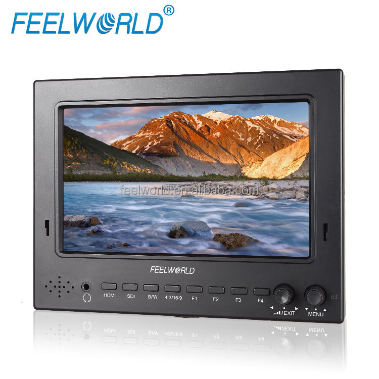 7 Inch LCD 1024*600 portable SDI screen with HDMI input 1080p camera-top monitor