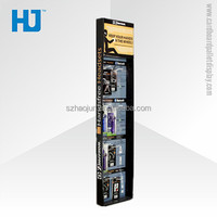 2014 new design cardboard display with small plastic hooks for earphone mic/headset promotion