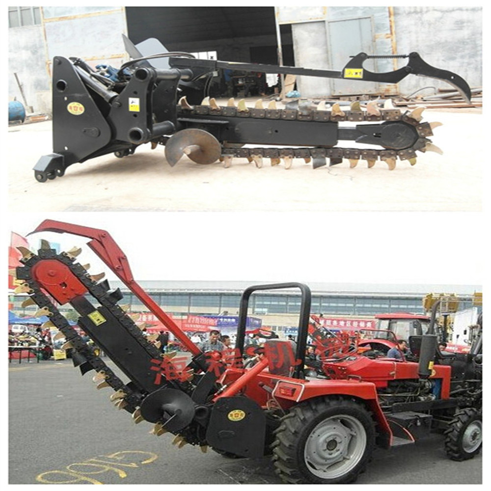 tractor 3 point hitch mini chain trencher with CE for tractor attachment