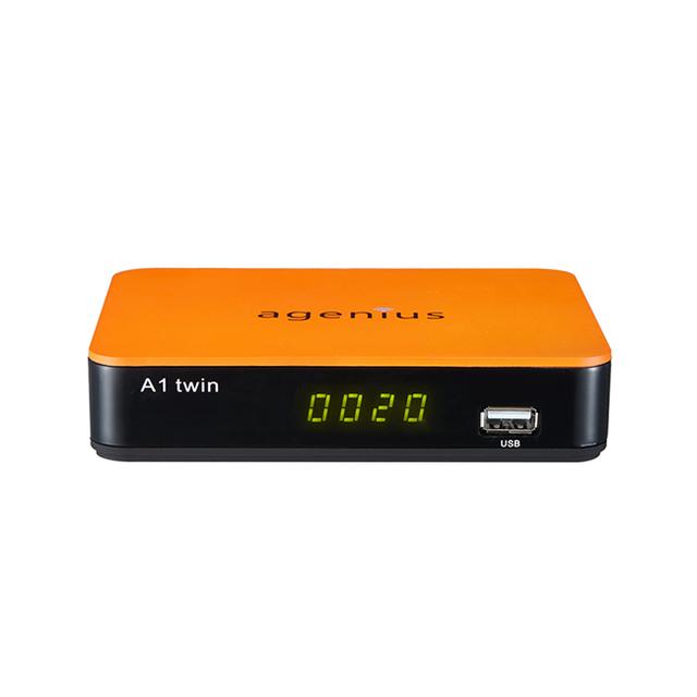 Agenius A1 twin DVB S2 FTA Satellite Receiver support IKS +VOD +H.265(HEVC) TV Box