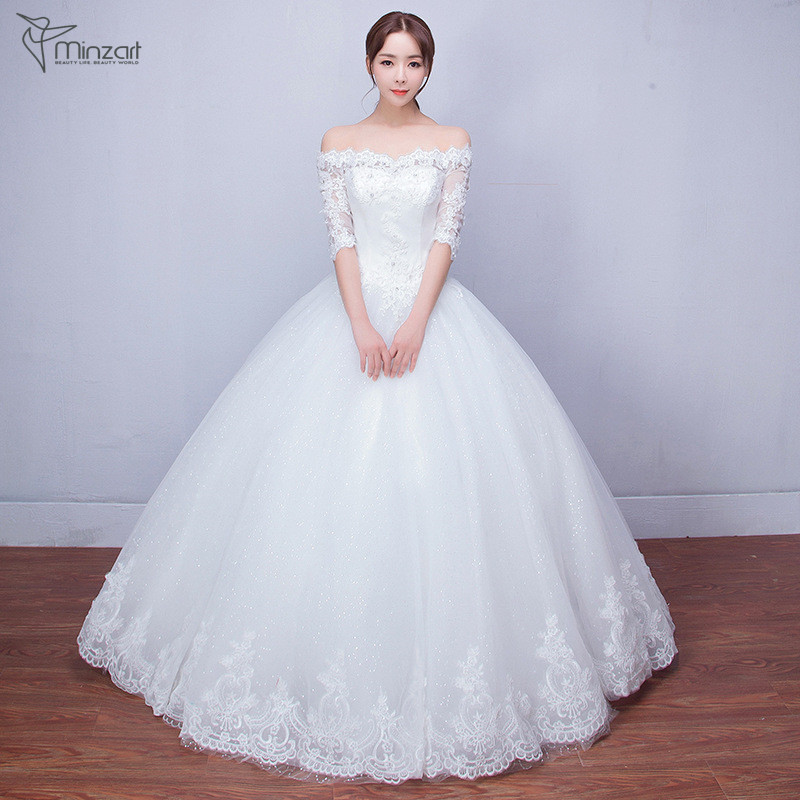 Minzart WD-DB0473 New design high quality lace up wedding dress/high quality wedding dress made in China wedding dress factory