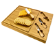Board Cheese Cutting Board with 3 Cheese Stainless Steel Knives