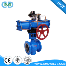 China Wholesale WCB DN150 PN16 Trunnion type Pneumatic Ball Valve
