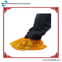 Plastic disposable shoe covers for medical care,cleaning