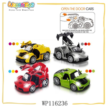 1:32 scale pull back alloy car with sound and light open door car model metal
