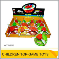 Wholesale plastic spinning top toy with light music OC0212585