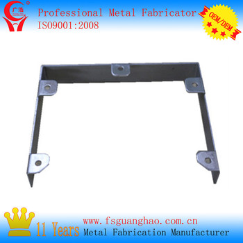Factory custom stamping assembly stamping metal flat bracket with holes
