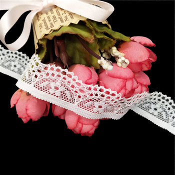 2cm nylon spandex scallop small flower knitting lace trim