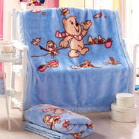 Korea style super soft 100% polyester baby blanket