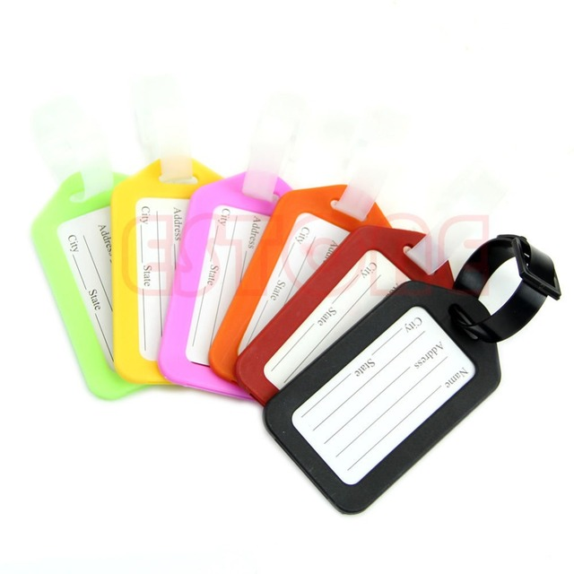 Plastic Travel Luggage Suitcase Travel bag Address Lable Tags 6 Colors