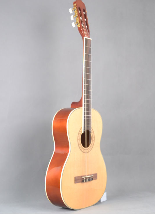 guangzhou manufacturer musical instrument classical guitar with classical guitar case for whosale