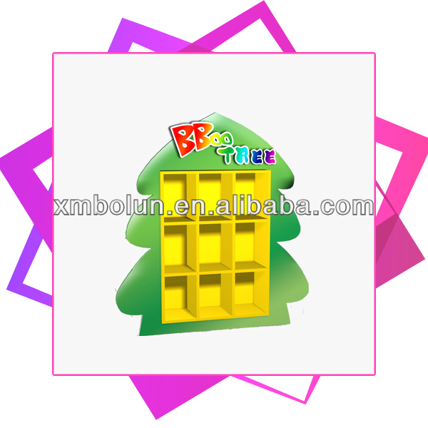Promotional cardboard toy shop display counter shelf for small plush toy