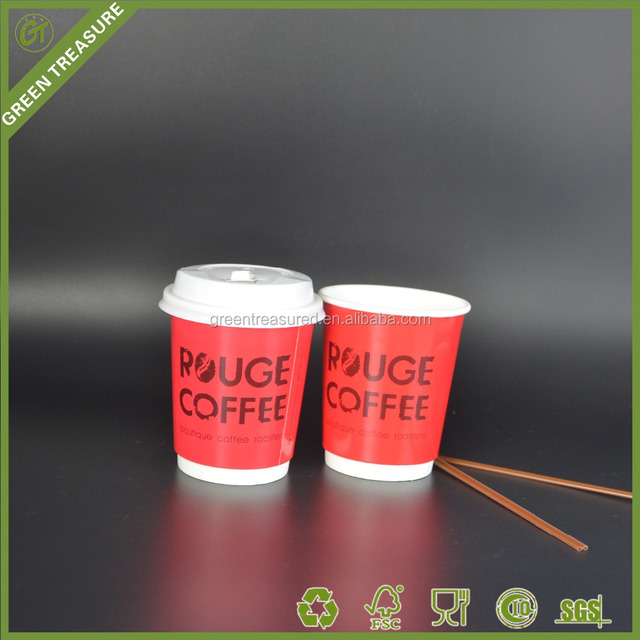 Wholesale take away coffee cups,Custom Printed Hot Drink Double Wall Insulated Compostable Biodegradable Paper Cups with coating