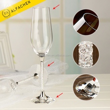 Wholesale Glass Drinkware Flute Champagne Glass Vases Decorative Champagne Flutes