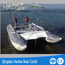6 Persons High Speed Inflatable Catamaran Fishing Boat