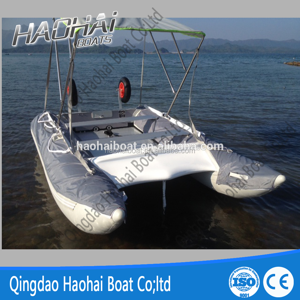 6 persons high speed inflatable catamaran fishing boat for Inflatable fishing boats