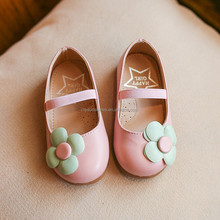 Size 21-35 New Style Spring Autumn Kids Casual Shoe With Flower Princess Pink Leather Shoes Kids Girl Wholesale