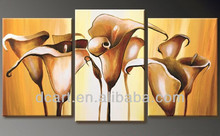 3 panels canvas lily flower wall art
