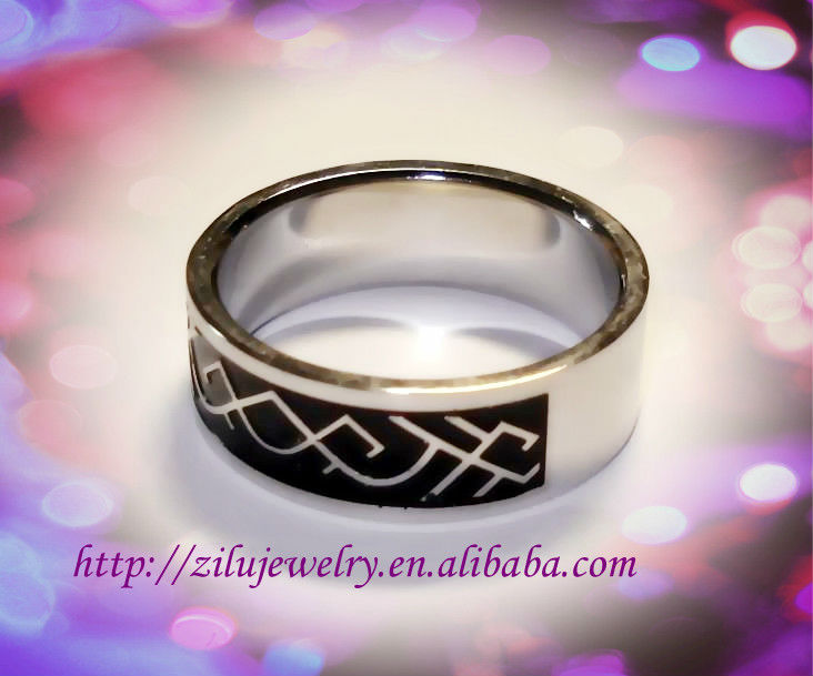 Wholesale fashion style stainless steel african wedding rings
