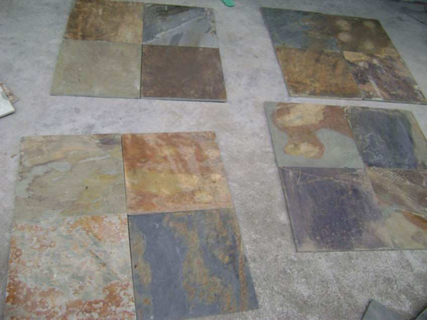 Discount Granite Tile : Wholesale Colorful Exterior Wall Stone Slate Granite Stone Decoration ...