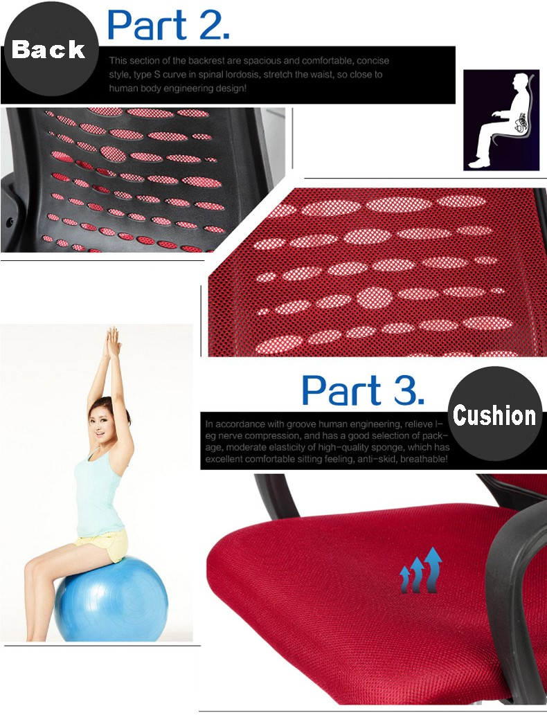 D28# Simple style mesh headrest for recliner chair office chair from China factory direct wholesale