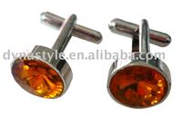High End Custom Red Color Men's Cuff Link